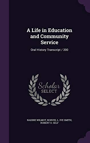A Life in Education and Community Service
