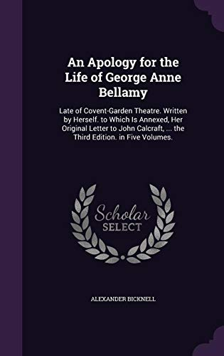 An Apology for the Life of George Anne Bellamy