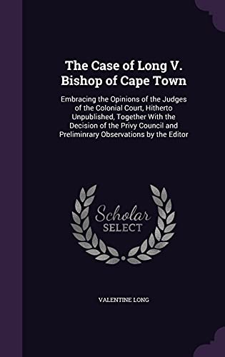 The Case of Long V. Bishop of Cape Town