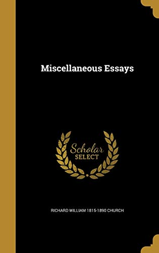 Miscellaneous Essays