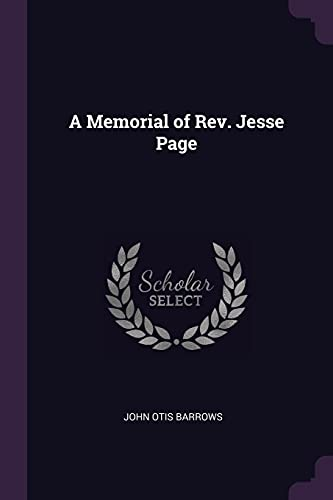 A Memorial of Rev. Jesse Page