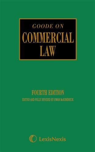 Goode: Commercial Law
