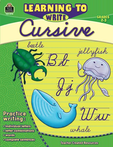 Learning to Write Cursive Grade 2-3