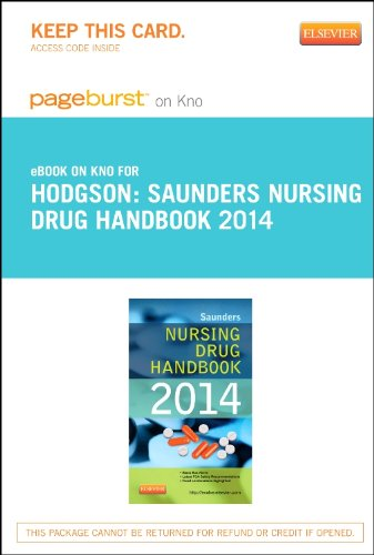 Saunders Nursing Drug Handbook 2014 - Elsevier eBook on Intel Education Study (Retail Access Card)