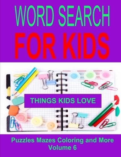 Word Search For Kids Volume 6