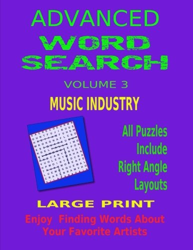 Advanced Word Search Volume 3 Music Industry