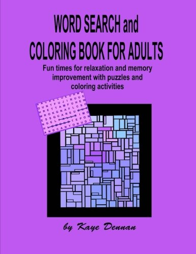 Coloring Book for Adults and Word Search