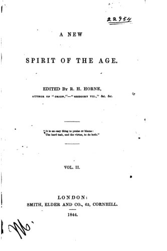 A New Spirit of the Age - Vol. II