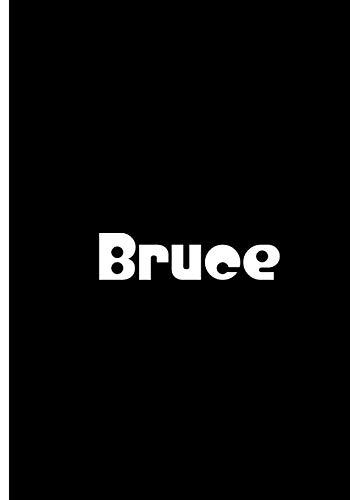 Bruce - Black Personalized Notebook / Extended Lined Pages / Soft Matte Cover