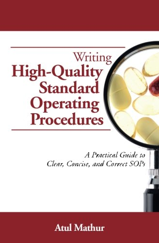 Writing High-Quality Standard Operating Procedures