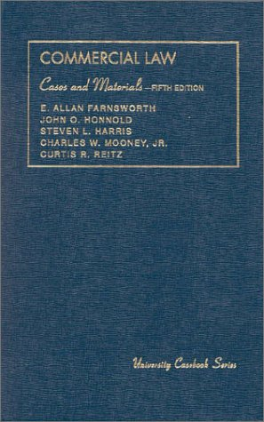 Cases and Materials on Commercial Law