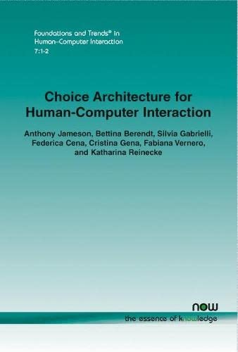 Choice Architecture for Human-Computer Interaction