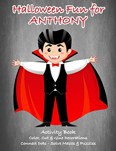 Halloween Fun for Anthony Activity Book