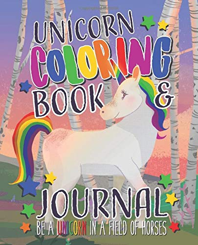 Unicorn Coloring Book and Journal Notebook