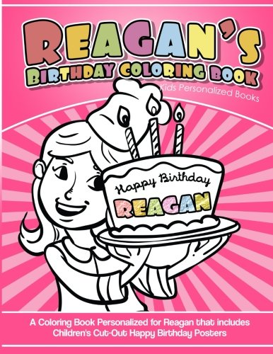 Reagan's Birthday Coloring Book Kids Personalized Books