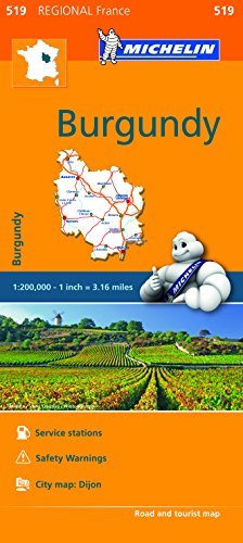 Burgundy - Michelin Regional Map 519