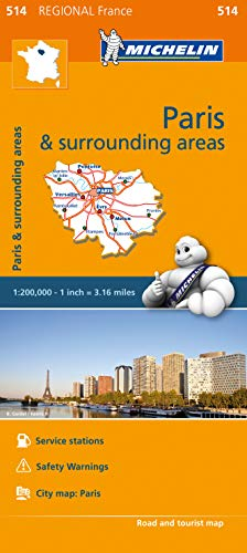 Ile-de-France - Michelin Regional Map 514
