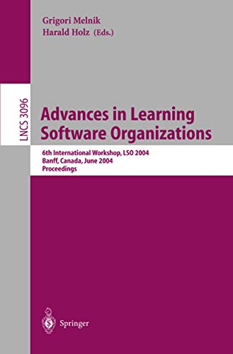 Advances in Learning Software Organizations