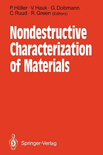 Nondestructive Characterization of Materials