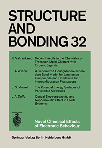 Novel Chemical Effects of Electronic Behaviour