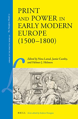Print and Power in Early Modern Europe (1500-1800)