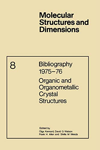 Bibliography 1975-76 Organic and Organometallic Crystal Structures