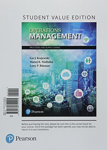Operations Management : Processes and Supply Chains, Student Value Edition Plus Mylab Operations Management with Pearson Etext -- Access Card Package