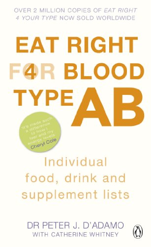 Eat Right for Blood Type AB : Maximise your health with individual food, drink and supplement lists for your blood type