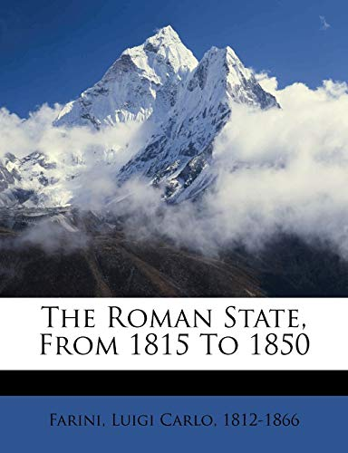 The Roman State, from 1815 to 1850