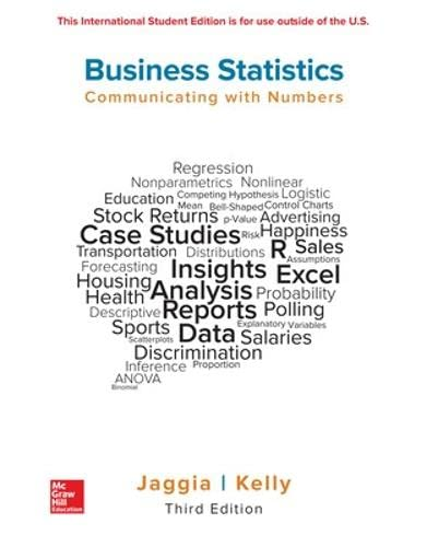 ISE Business Statistics: Communicating with Numbers