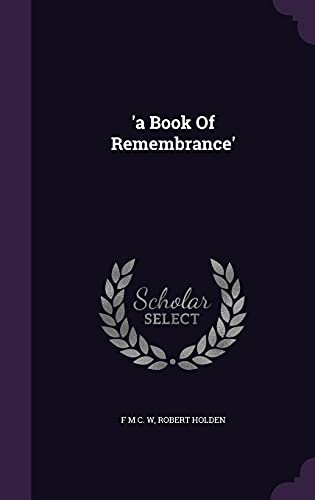 'A Book of Remembrance'
