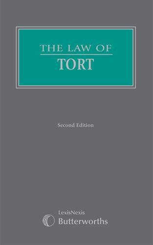 The Law of Tort (Part of Butterworths Common Law Series)