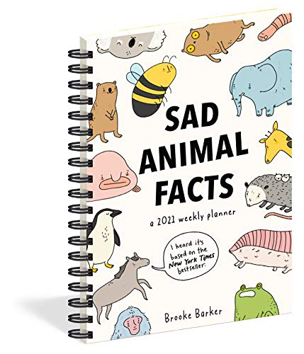 2021 Sad Animal Facts Weekly Planner Diary