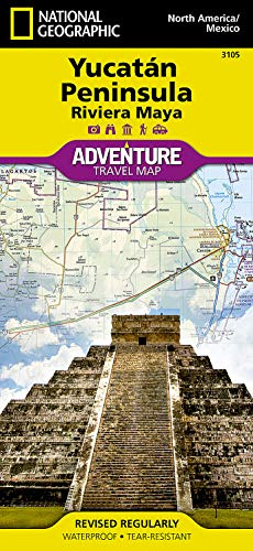 Northern Yucatn/maya Sites, Mexico : Travel Maps International Adventure Map