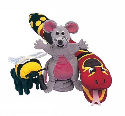 Jolly Phonics Puppets : Set of all 3