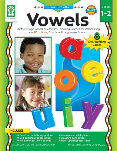 Vowels, Grades 1 - 2 : Activity Pages and Easy-To-Play Learning Games for Introducing and Practicing Short and Long Vowel Sounds
